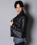 JACKROSE(ジャックローズ) |SG UK LAMB LEATHER DOUBLE RIDERS